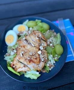 roasted chicken leg salad